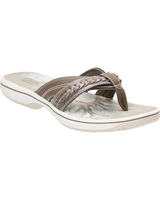 womens-clarks-brinkley-nora-flip-flop-pewter-synthetic-thong-sandals